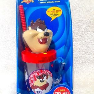 Vintage Looney tunes cool taz talking cup